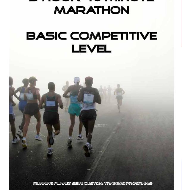 Three Hour Forty Minute Marathon Basic Level